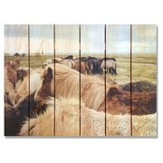 Gizaun Art 'Winter Ponies' Photographic Print on Wood