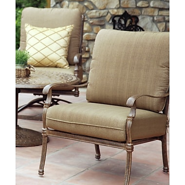 Astoria Grand Dolby 4 Piece Deep Seating Group w/ Cushions; Mocha