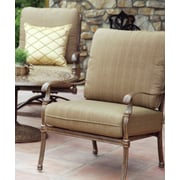 Darlee Florence 3 Piece Fire Pit Seating Group w/ Cushions; Mocha