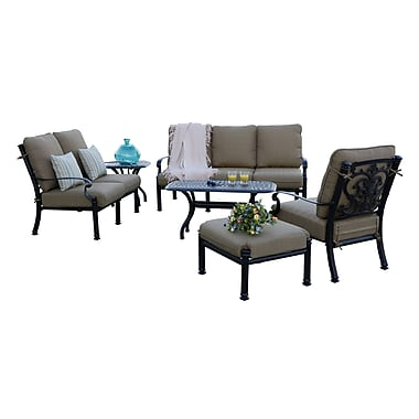Astoria Grand Palazzo Sasso 6 Piece Deep Seating Group w/ Cushions; Antique Bronze