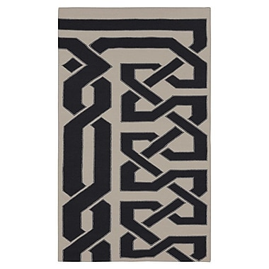 Beth Lacefield Alameda Hand woven White/Black Area Rug; 5' x 8'