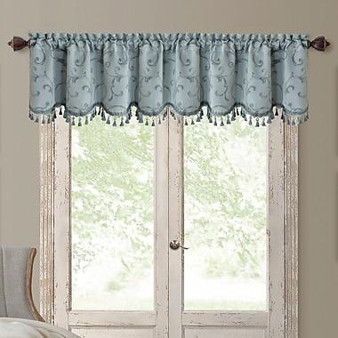 Elrene Home Fashions Mia Curtain Valance; Blue