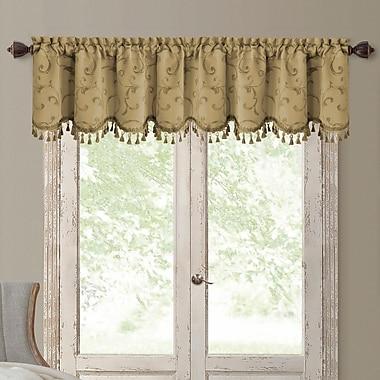 Elrene Home Fashions Mia Curtain Valance; Gold