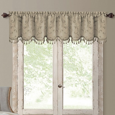 Elrene Home Fashions Mia Curtain Valance; Natural