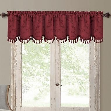Elrene Home Fashions Mia Curtain Valance; Rouge