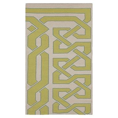 Beth Lacefield Alameda Bone & Green Area Rug; 5' x 8'