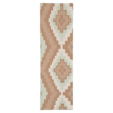 Beth Lacefield Alameda Hand woven Brown/Ivory Area Rug; Runner 2'6'' x 8'