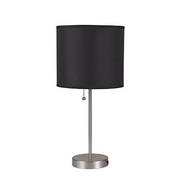 Major-Q Pull 18.5'' Table Lamp; Black