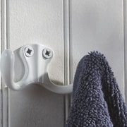 Richelieu Utility Metal Wall Hook; White