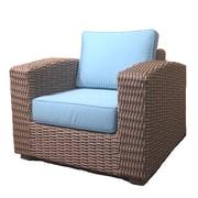 ElanaMar Designs Monaco Chair w/ Cushion; Mineral Blue