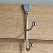 Richelieu Utility Wall Mounted Coat Rack; Chrome