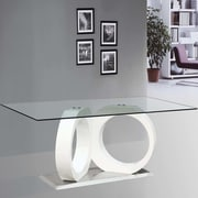BestMasterFurniture Modern Glass Dining Table