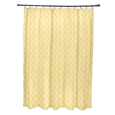e by design Geometric Shower Curtain; Lemon
