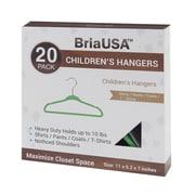 BriaUSA Kid's Steel Hook Hanger (Set of 20); Green