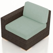 Harmonia Living Arden Left Arm Section Chair w/ Cushion; Canvas Spa