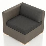 Harmonia Living Element Left Arm Section Chair w/ Cushion; Spectrum Indigo