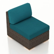 Harmonia Living Arden Middle Section Chair w/ Cushion; Spectrum Peacock