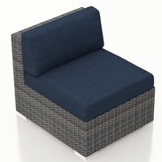 Harmonia Living District Middle Section Chair w/ Cushion; Spectrum Indigo