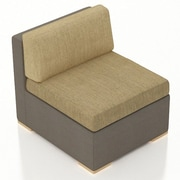 Harmonia Living Element Middle Section Chair w/ Cushion; Heather Beige