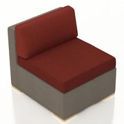 Harmonia Living Element Middle Section Chair w/ Cushion; Canvas Henna