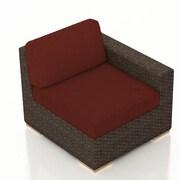 Harmonia Living Arden Right Arm Section Chair w/ Cushion; Canvas Henna