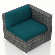 Harmonia Living District Right Arm Section Chair w/ Cushion; Spectrum Peacock