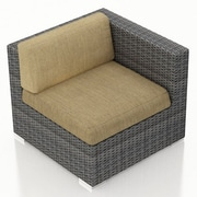 Harmonia Living District Right Arm Section Chair w/ Cushion; Heather Beige