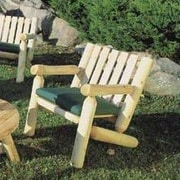 Rustic Cedar Cedar Lounge Armchair; Natural
