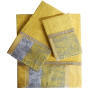 Daniels Bath Decorative 3 Piece Towel Set; Yellow