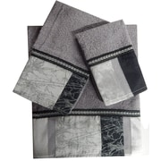 Daniels Bath Decorative 3 Piece Towel Set; Gray