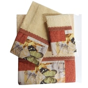 Daniels Bath Decorative 3 Piece Towel Set; Rust