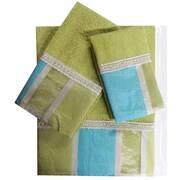 Daniels Bath Decorative 3 Piece Towel Set; Turquoise