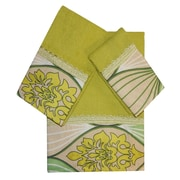 Daniels Bath Decorative 3 Piece Towel Set; Green