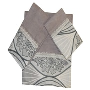 Daniels Bath Decorative 3 Piece Towel Set; Silver