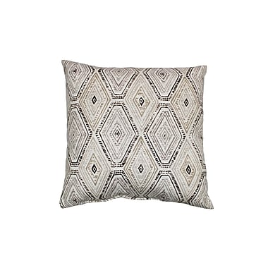 Swan Dye and Printing Ricochet Cotton Throw Pillow; Sahara
