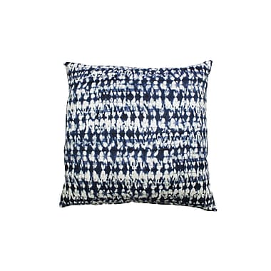 Swan Dye and Printing Pembroy 100pct Cotton Throw Pillow; Ink