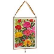 DEMDACO Roses Glass Window Panel