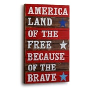 DEMDACO 'America Land of the Free' Textual Art on on Wood