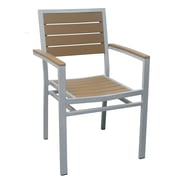 DHC Furniture Outdoor Patio Arm Chair; Teak
