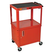 Offex Metal 3 Shelf AV Cart; Red
