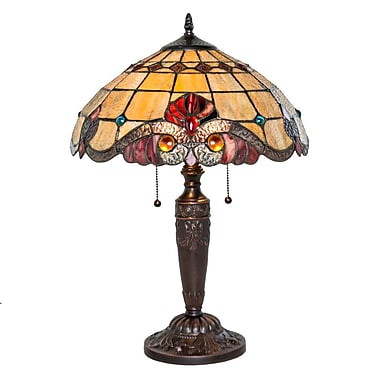River of Goods Stained Glass Vivaldi 20.25'' Table Lamp