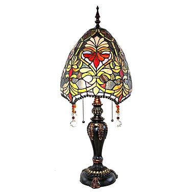 River of Goods Stained Glass Beaded Brianne's 30.5'' Table Lamp