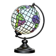 River of Goods Stained Glass Round Globe 14.9'' Table Lamp
