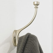 Richelieu Classic Metal Wall Hook; Matte Nickel