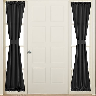 Sun Zero Groton Single Curtain Panel; Black