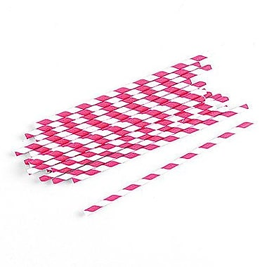 Weddingstar Sippers Candy Paper Straw (Set of 75); Fuchsia