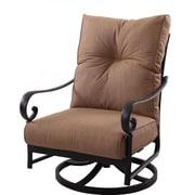 K B Patio Santa Anita Swivel Club Chair w/ Cushions