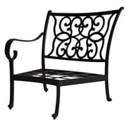 K B Patio Santa Anita Right-Arm Curved Club Chair w/ Cushions