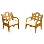 Loon Peak Burliegh Modern Solid Lounge Chair (Set of 2); White