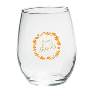 Kate Aspen Give Thanks 15 Oz. Stemless Wine Glass (Set of 4)